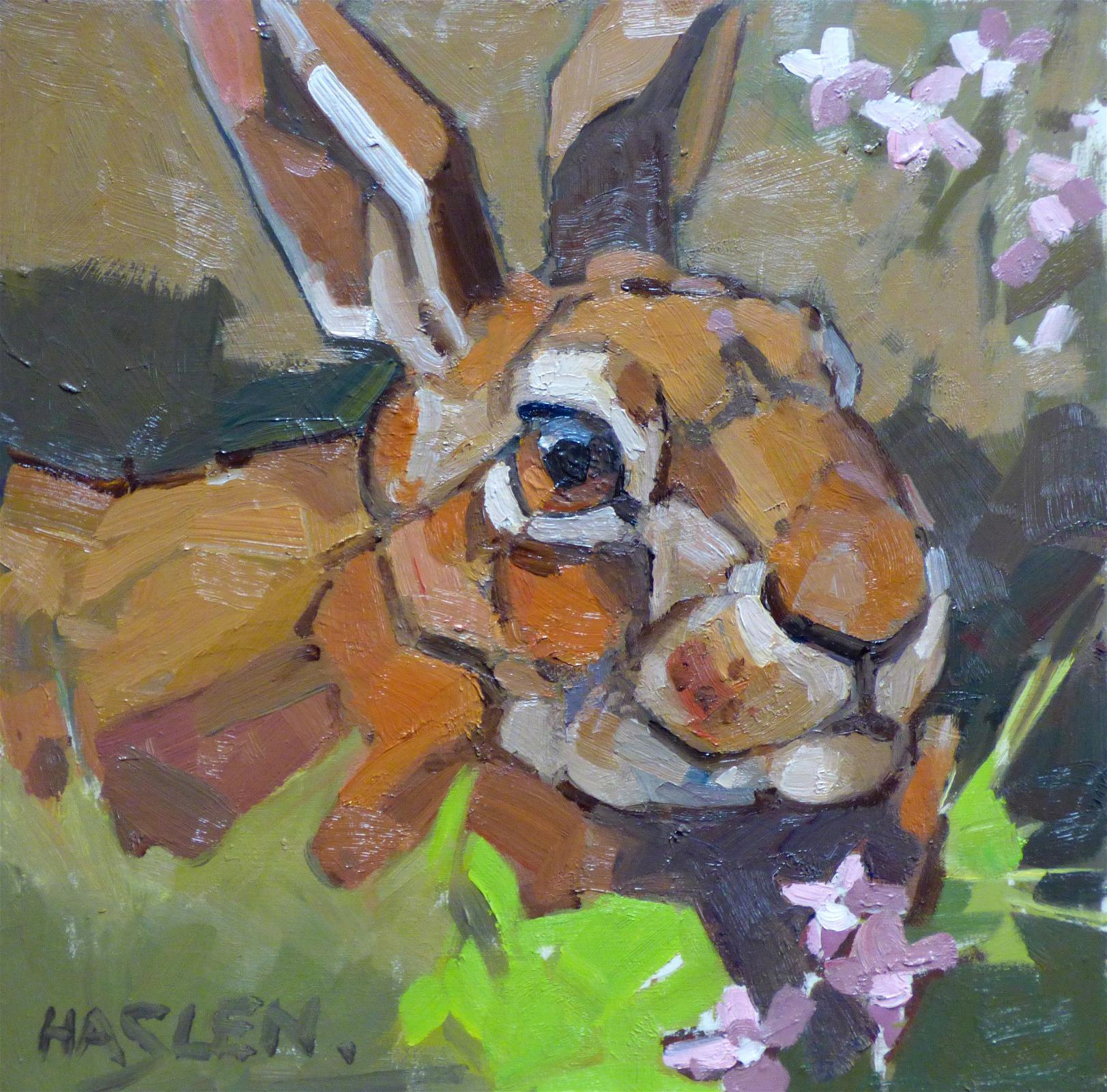 <p>Hare Portrait by Andrew Haslen</p>