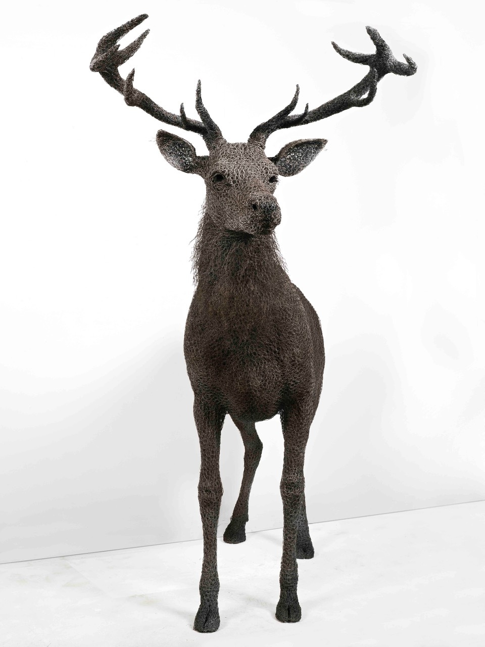 Red Stag, Wire mesh and steel, 197(h) x 191(w) x 93(d)
