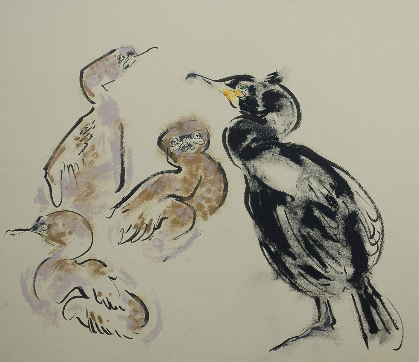 <p><em>Shag with chicks </em>by Wynona Legg</p>