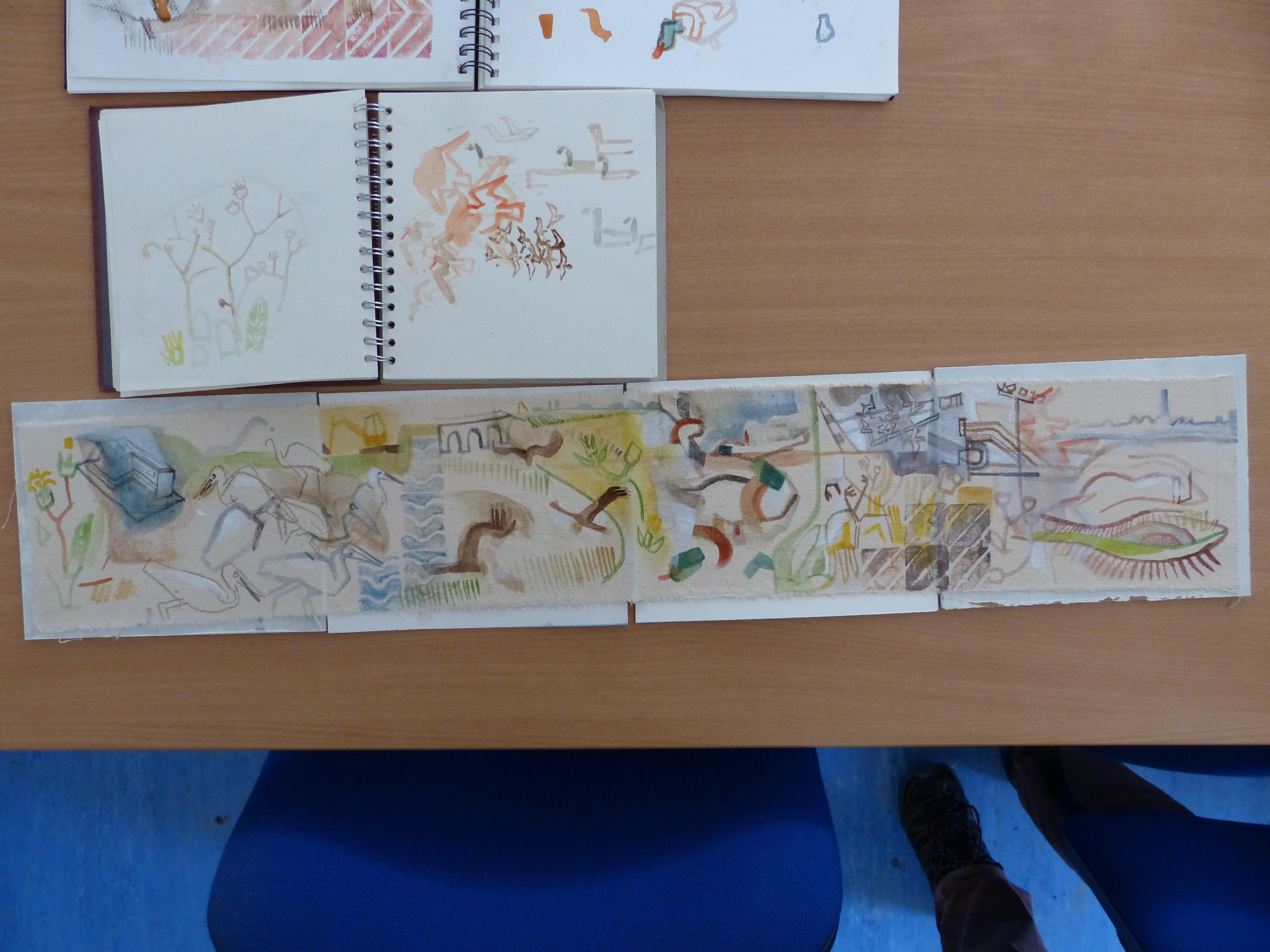 <p>John Foker's sketchbooks and concertina drawings</p>