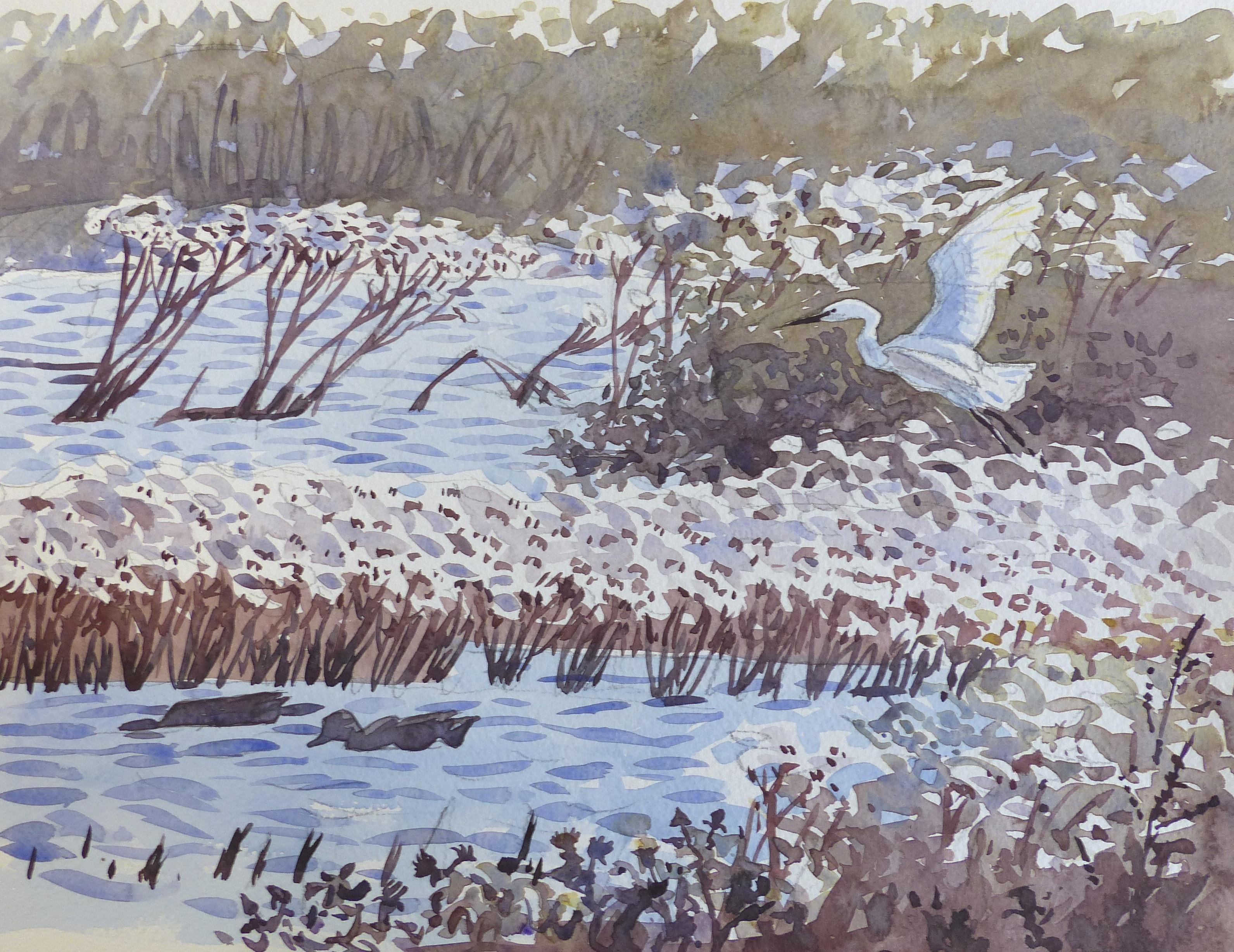 <p>Atmospheric watercolour by Richard Allen</p>