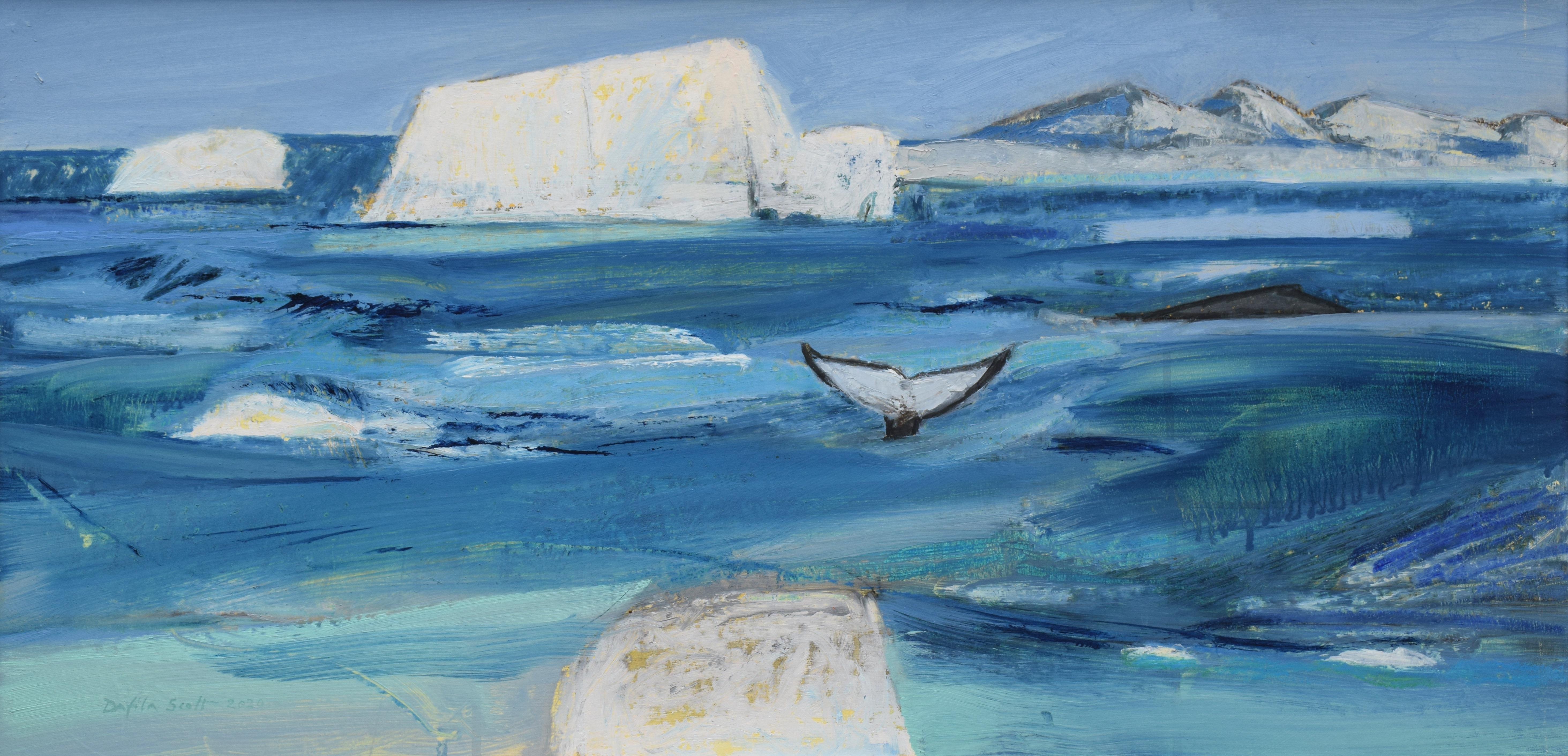<p>Humpback Whales in the Antarctic by Dafila Scott</p>
