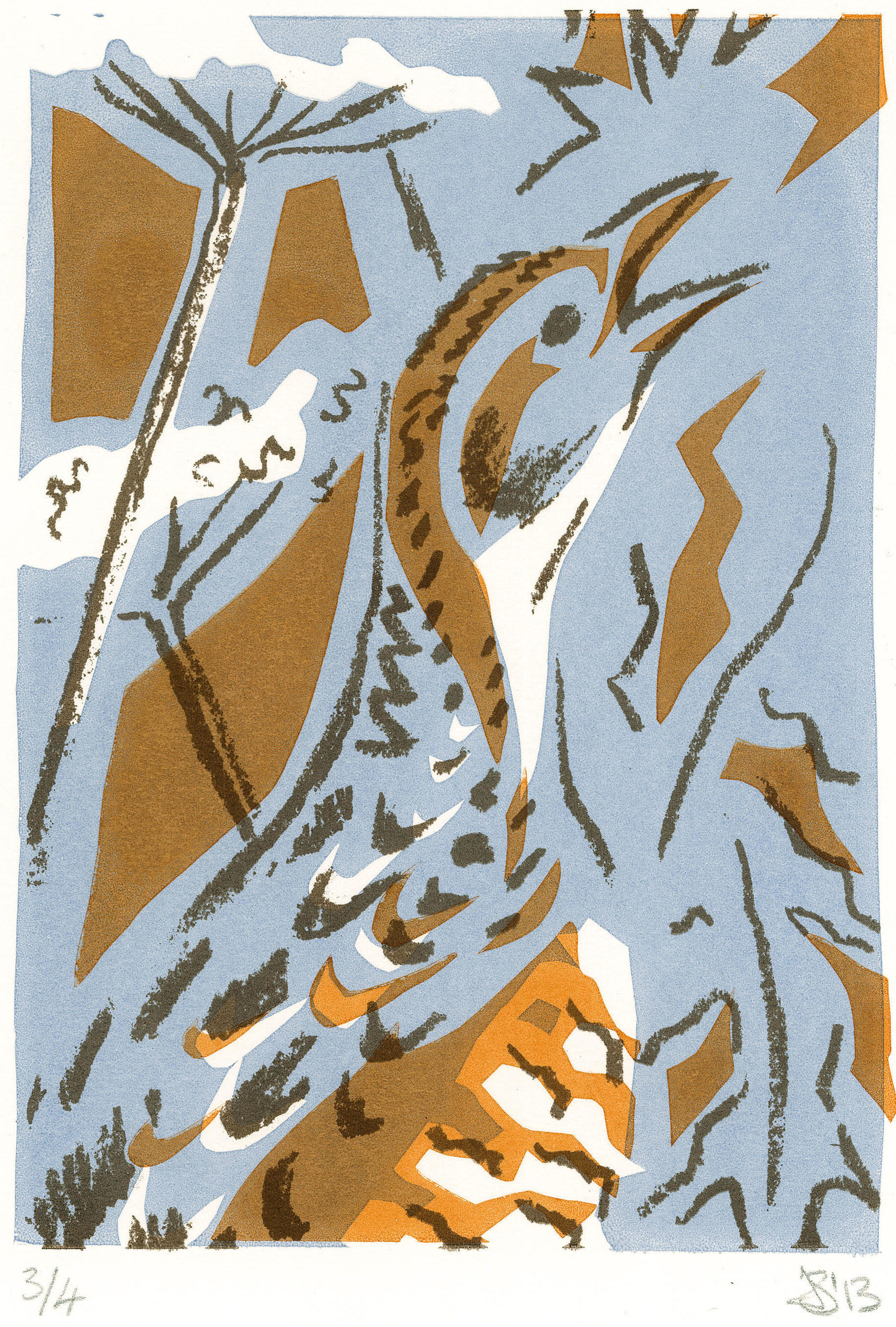 Corncrake, screen print,
