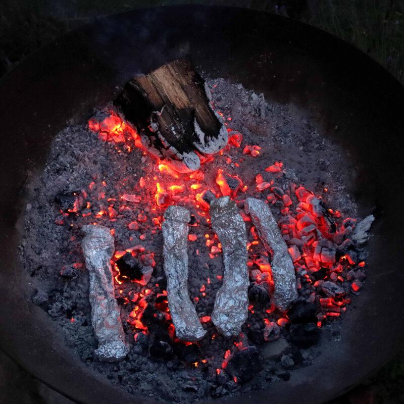 Ibby Lanfear, Charcoal Making Process