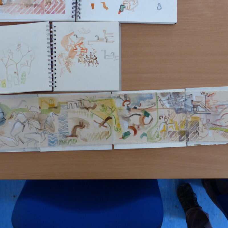 John Foker's sketchbooks and concertina drawings