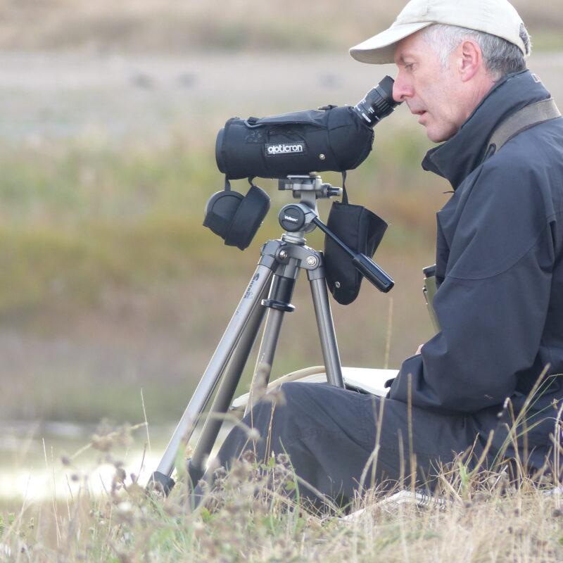 Richard Allen working in the field