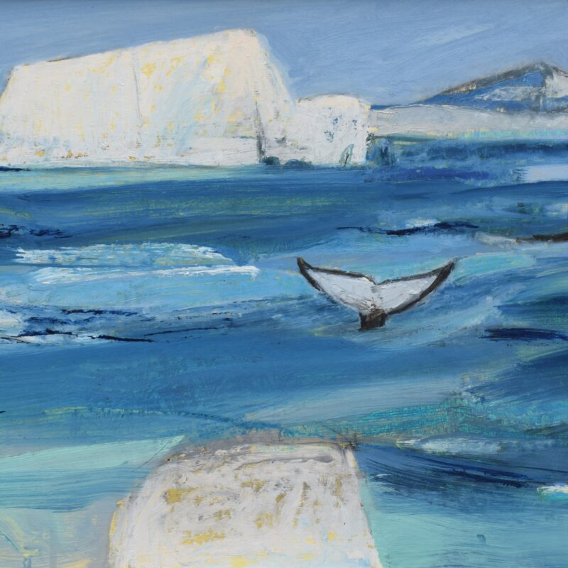 Humpback Whales in the Antarctic by Dafila Scott