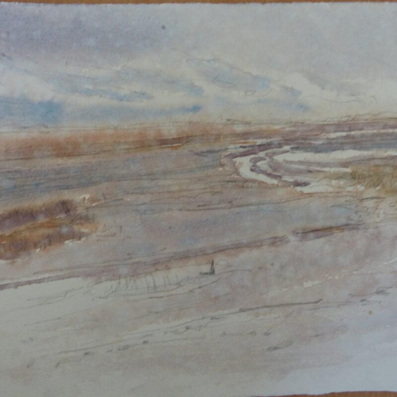 Robert Greenhalf's rain-soaked watercolour