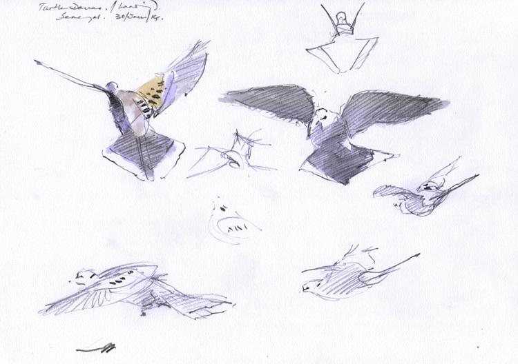 <p>Turtle doves feeding, Bruce Pearson</p>