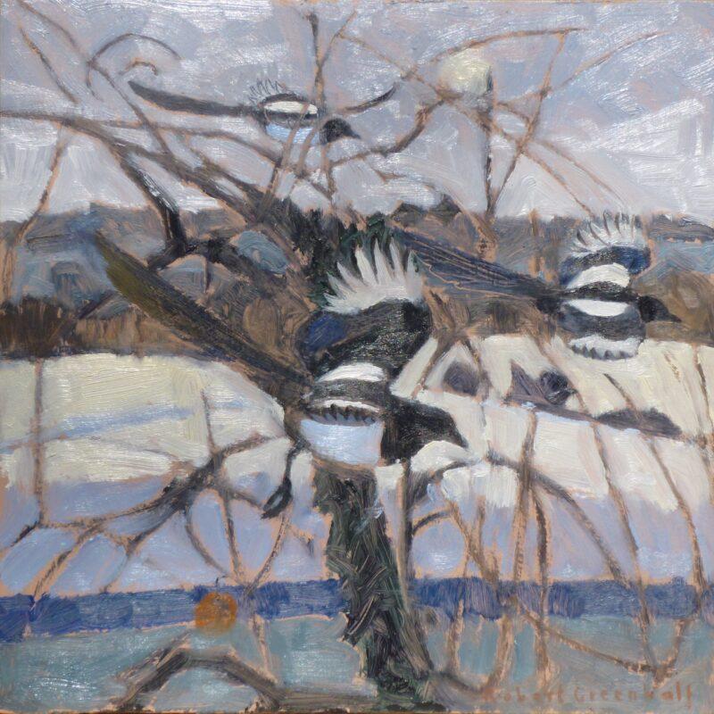 Three Magpies by Robert Greenhalf