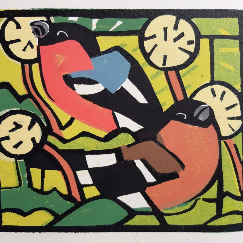 Bullfinches by Johnnie Foker