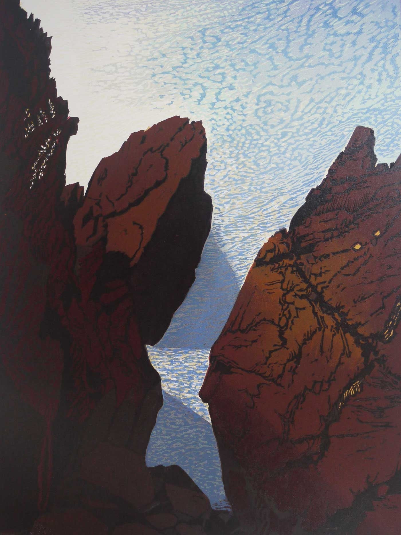 Twinletts, Woodcut, 60 cm x 45 cm