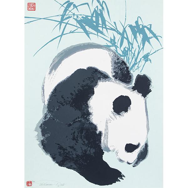 Panda, Screen print, James Williamson Bell © Gallagher and Turner Arts