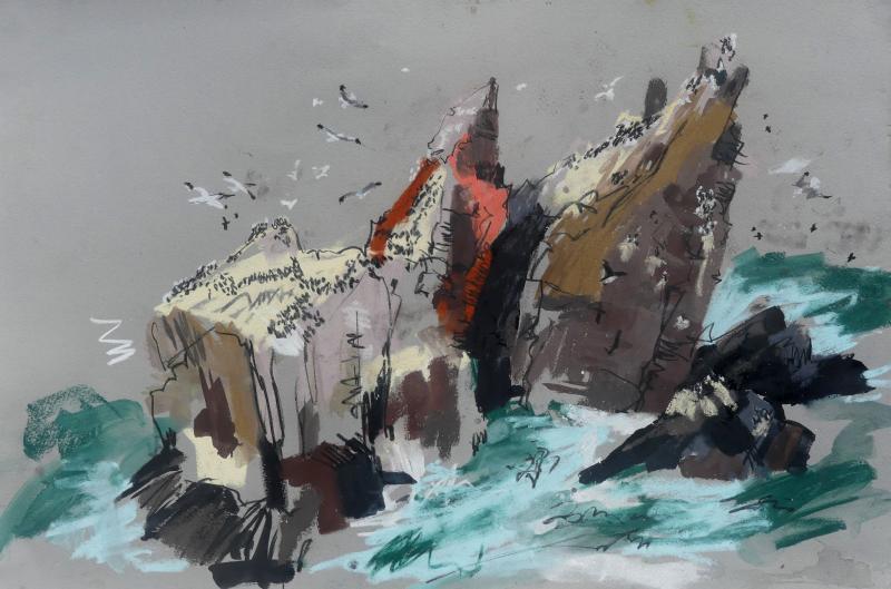 Sea stacks, St Abb's Head, Liz Myhill