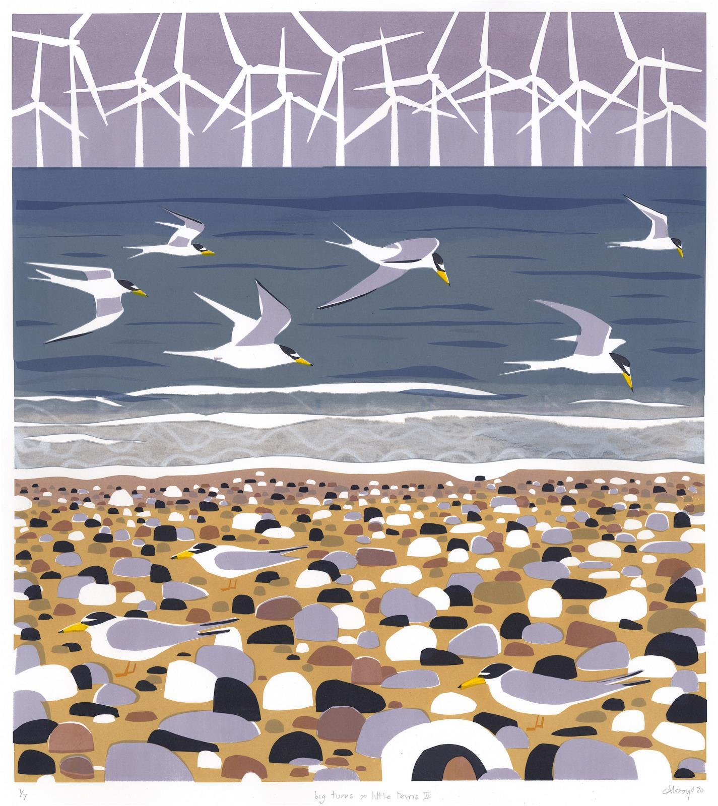 <p>Big Terns and Little Terns IV by Carry Akroyd</p>