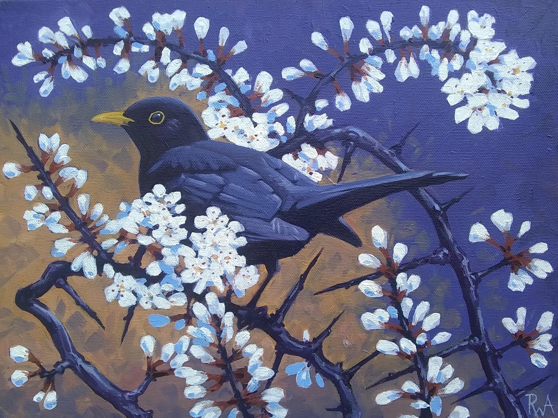 <p>Blackbird Blossom by Richard Allen</p>
