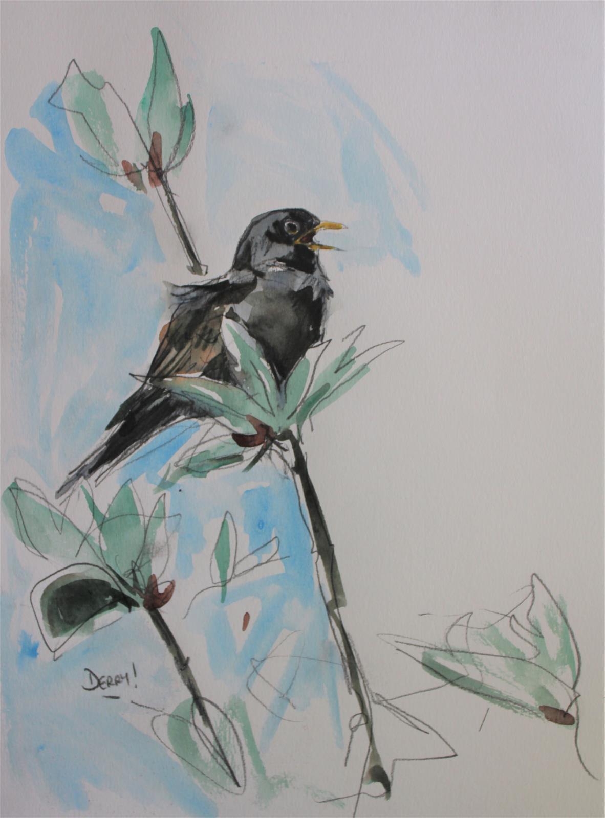 <p>Lockdown Blackbird by Nick Derry</p>