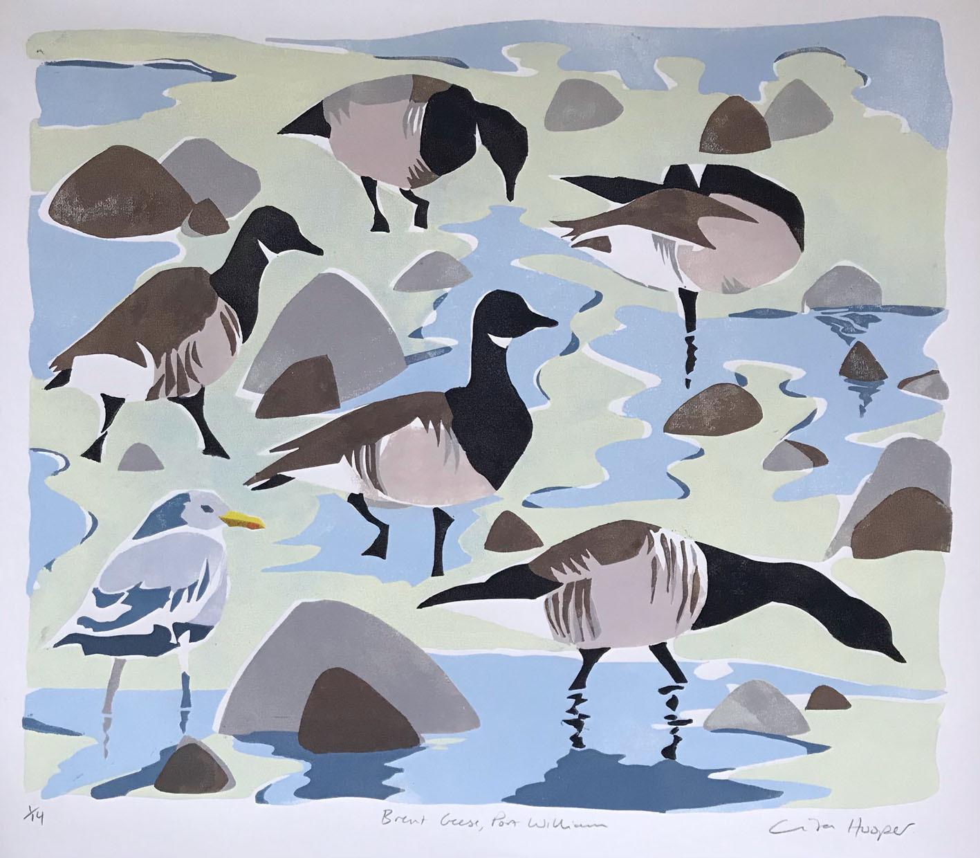 Lockdown Brent Geese, Port William, by Lisa Hooper