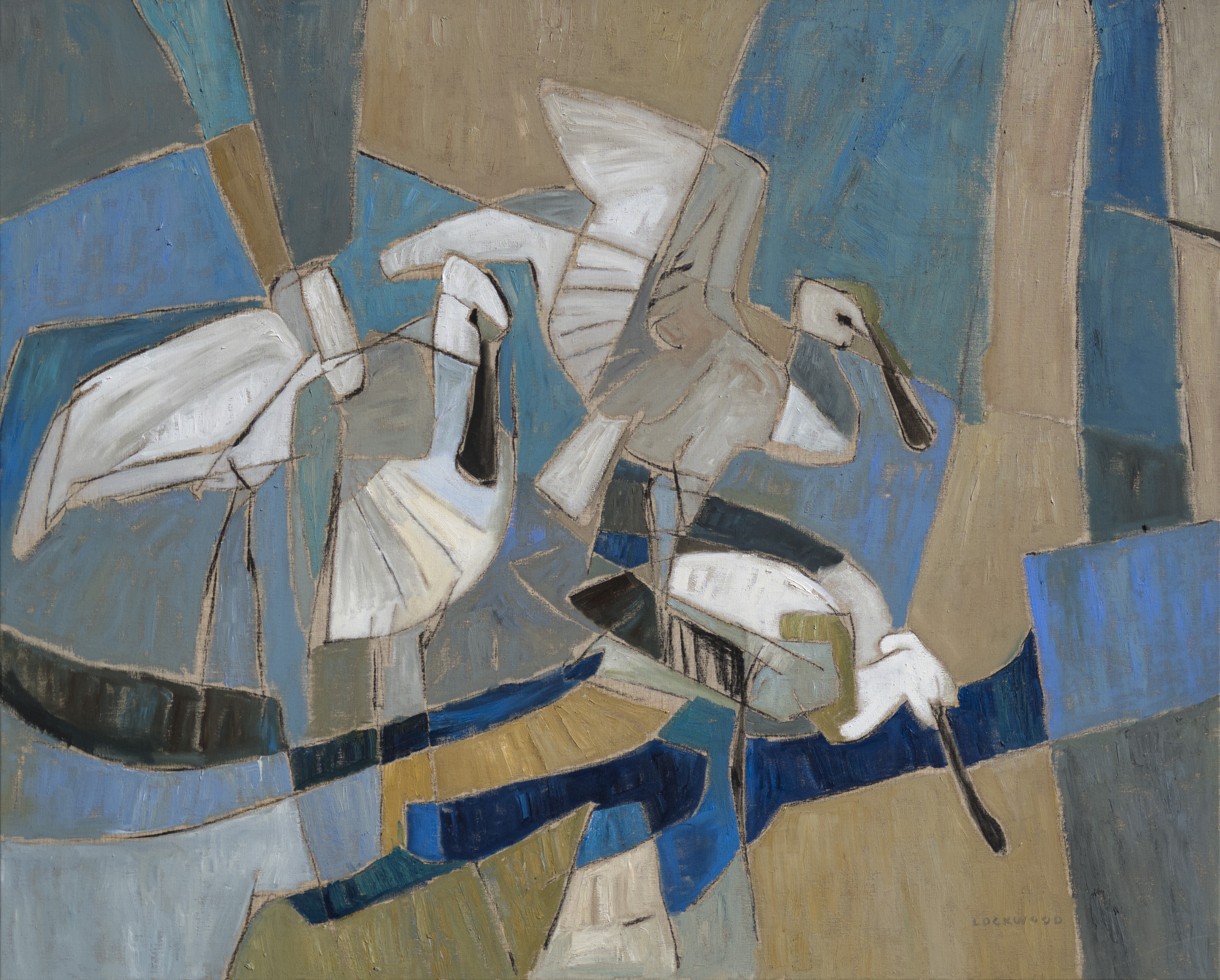 <p>Spoonbills on the marsh by Rachel Lockwood</p>