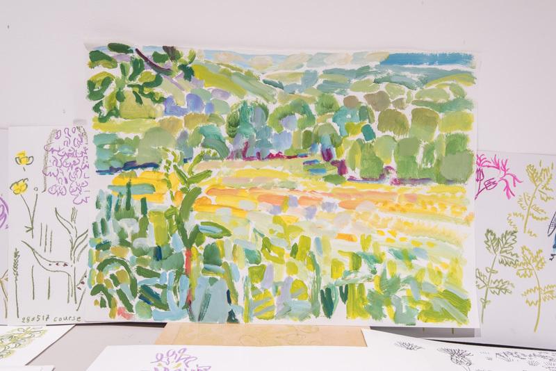 <p>Matt Underwood landscape study</p>
