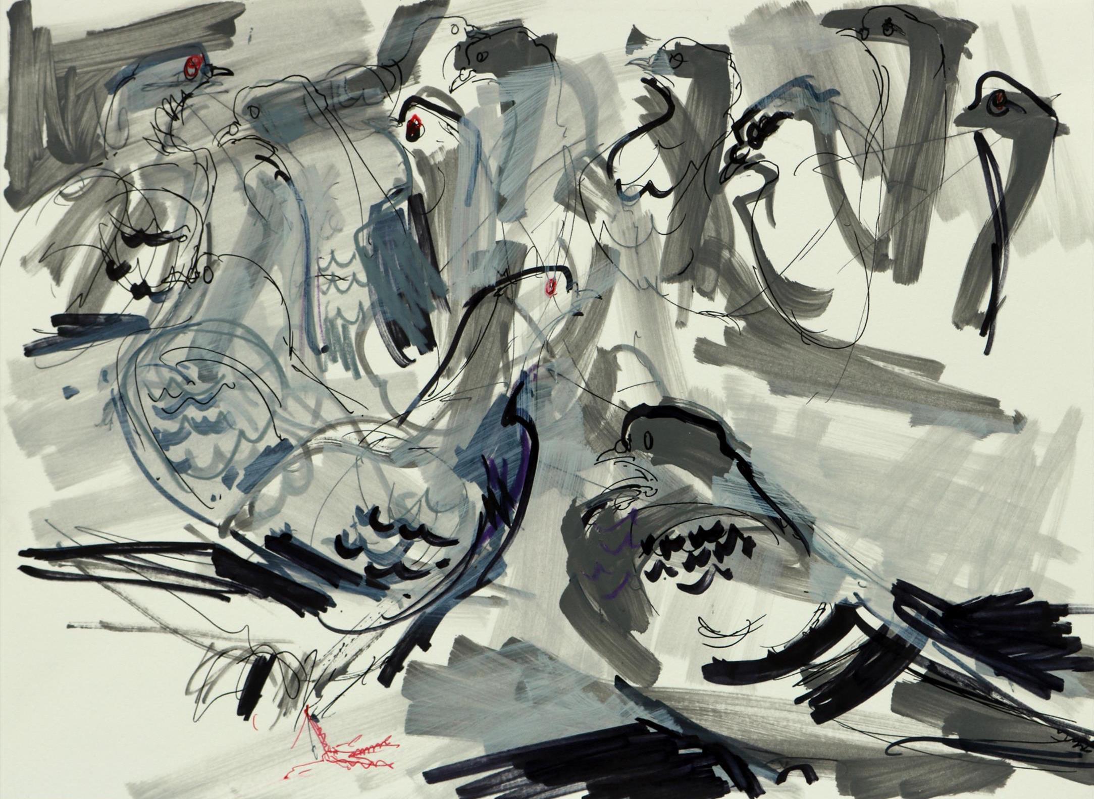 <p>Feral Pigeons 1 by Nik Pollard</p>