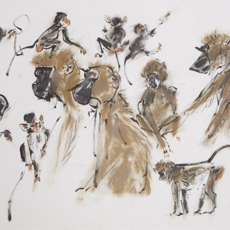 Olive Baboons by Wynona Legg ASWLA