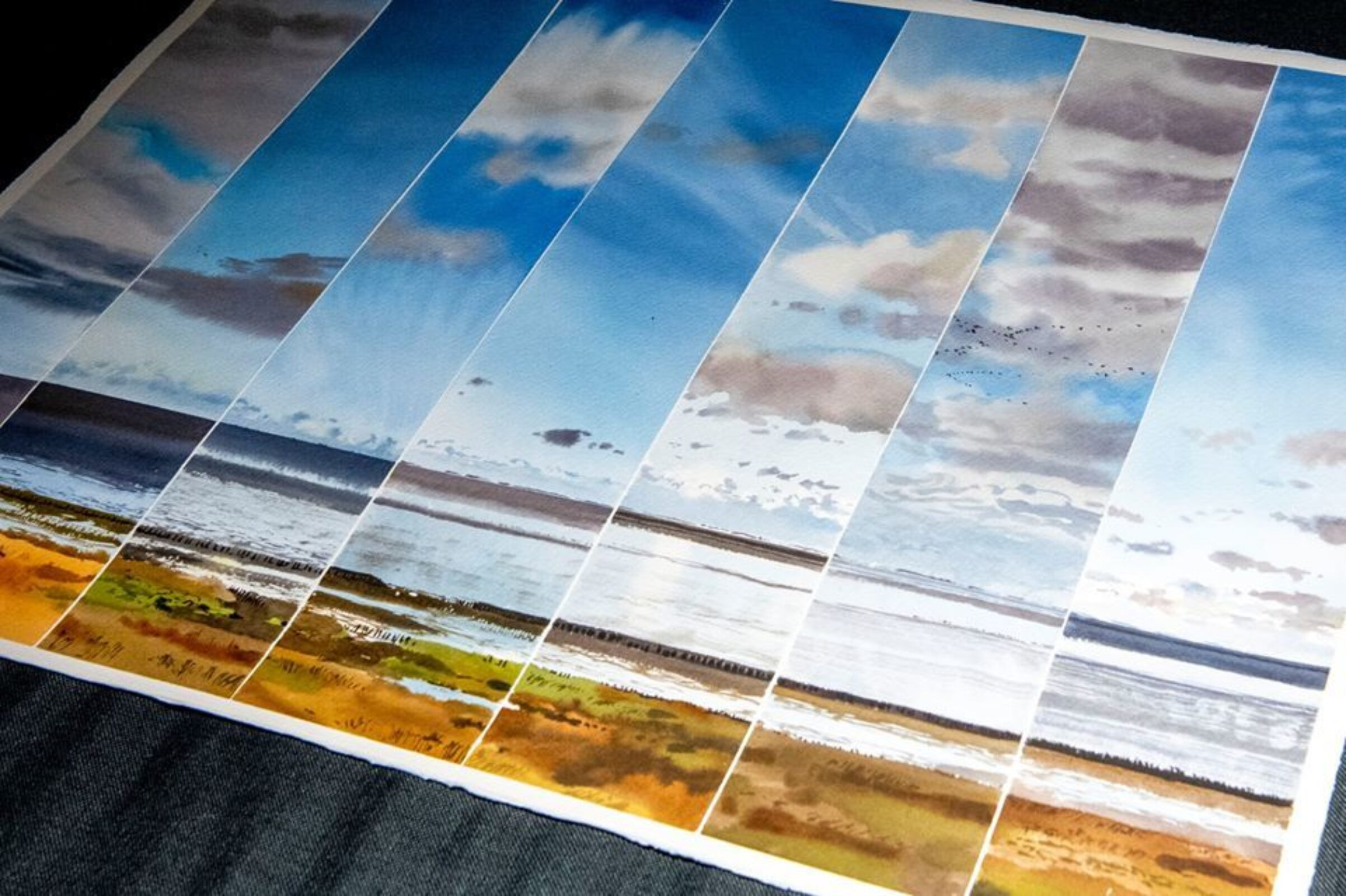 A timed painting made during the SWLA Waddensea project by Ben Woodhams © Ben Woodhams
