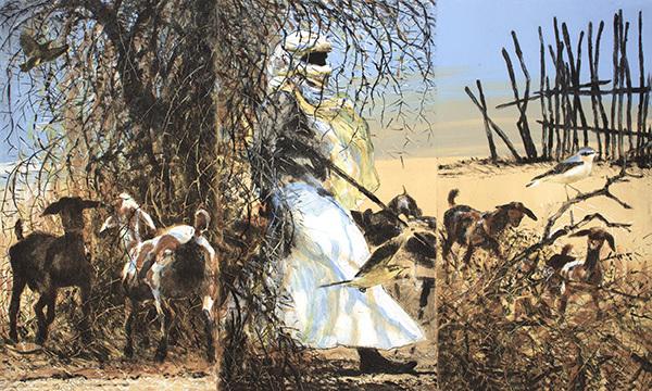 Sahel drypoint carborundum, Bruce Pearson